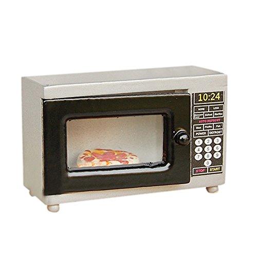 BESTLEE 112 Dollhouse Miniature Microwave Oven Kitchen Accessories Grey