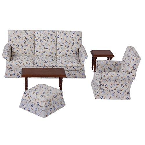 112 Dollhouse Miniature Furniture Sofa End Table Set