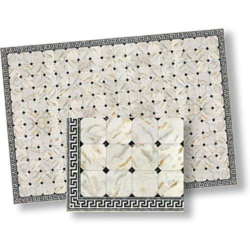 Dollhouse Flooring Black Diamond Faux Marble Floor Tile