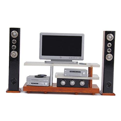 112 Dollhouse Miniature Furniture TV DVD Surround Sound Set