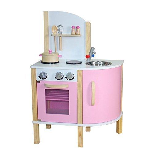 Kidzmotion La Cuisine Junior Wooden Pretend Play Kitchen Pink by Kidzmotion