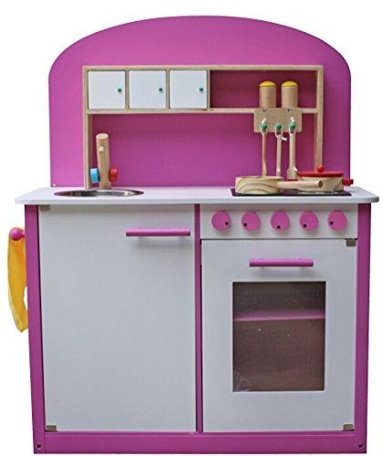 Kidzmotion La Cuisine Parfaite Wooden Pretend Play Kitchen Pink by Kidzmotion