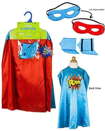 Creative Play Child Superhero Kit POW BlueRed