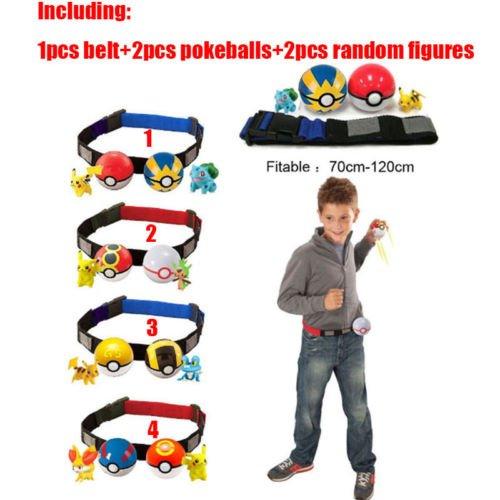 Pokemon Clip n Carry Kids Adjustable Poke Ball Belt Xmas Gift Pretend Play Game
