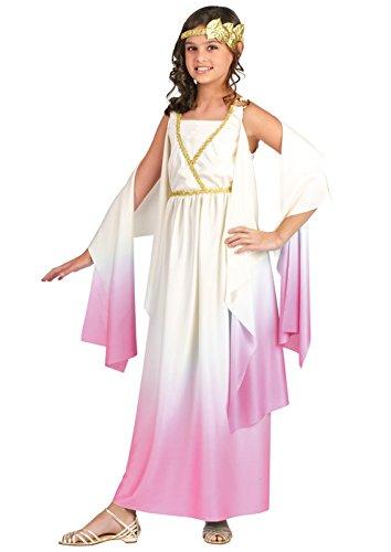Fun World Kids Pink Greek Goddess Dress Girls Halloween Costume L