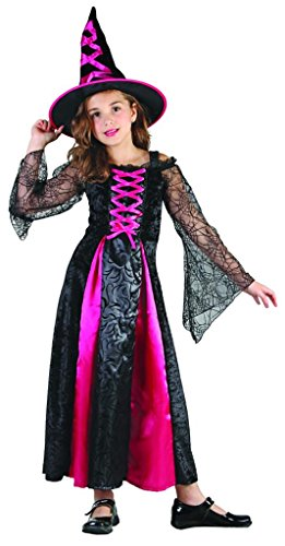 YOU LOOK UGLY TODAY Girls Fairytale Halloween Witch Dress-up Costume Quality Fabric Washable Durable-Medium