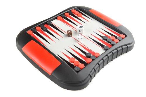 Backgammon Magnetic Board Game Size Medium Dimensions 272 x 237 x 35 cm Mod SC9610 US