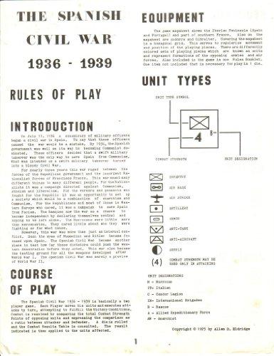 JAGD Spanish Civil War Board Game 2nd Edition