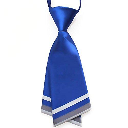 Fashion Ladys Pre-Tied Silk Necktie Womens Costume Necessary Lightblue