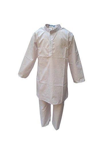 Kaku Fancy Dresses Indian Traditional Wear Kurta Pajama Costume Set -White 16-18 Years for Boys