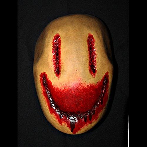 11 Custom Halloween Costume Cosplay Latex Smiley Mask LA11