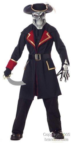 Childs Captain Scurvy Skull Pirate Halloween Costume Size Medium 8-10