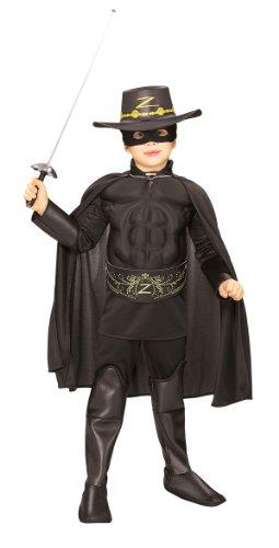 Muscle Chest Zorro Costume - Small