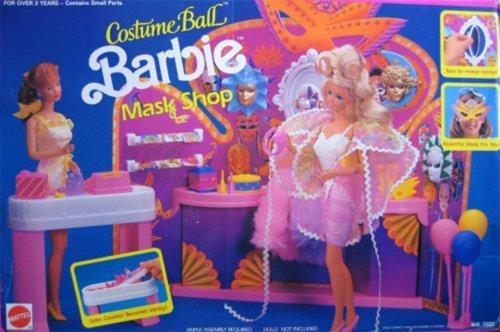 Barbie Costume Ball BARBIE MASK SHOP Playset 1991 Arco Toys Mattel