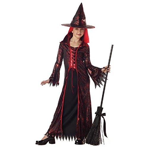 Childs Devil Witch Halloween Costume Size Medium 8-10
