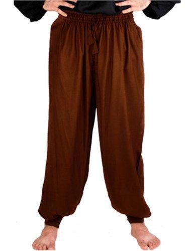 Pirate Renaissance Medieval Costume Harem Pants Trousers SmallMedium Chocolate