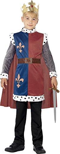 Smiffys Kids King Arthur Medieval Costume Medium Red