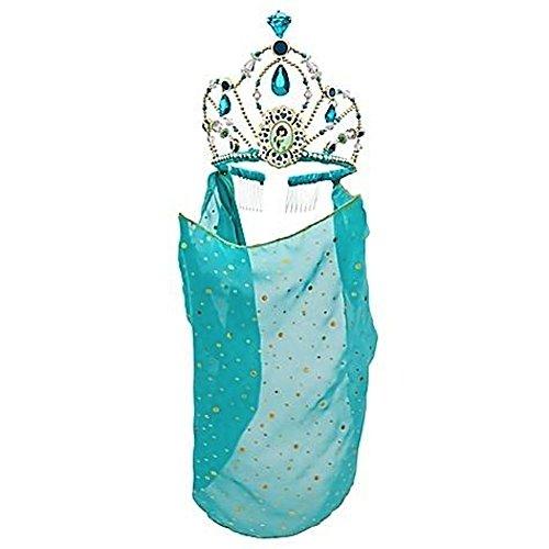 Disney Store Princess Jasmine Tiara Crown with Veil Halloween Costume Accessory
