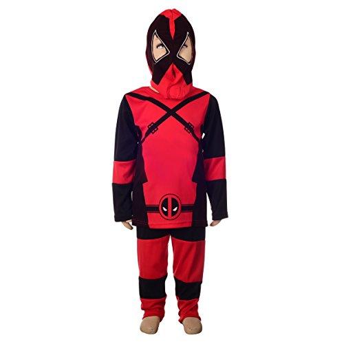 Dressy Daisy Boys Deadpool Costume Fancy Dress Superhero Costume Mask Halloween Party Size 4-5