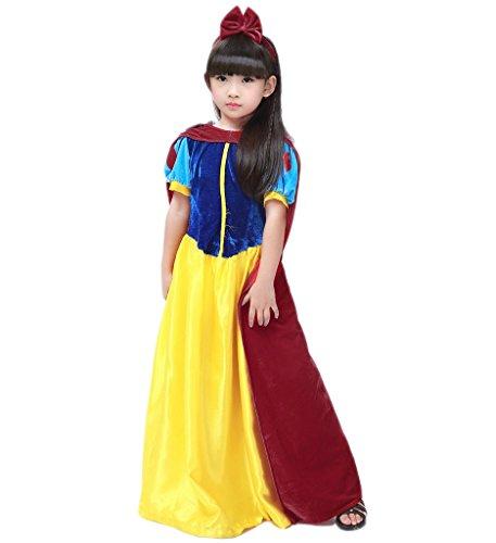 Papaya Wear Snow White Costume Halloween Costume for Girls S