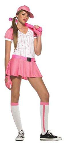 UHC All Star Baseball Player Pink Cute Teen Girls Halloween Costume Teen SM 2-8