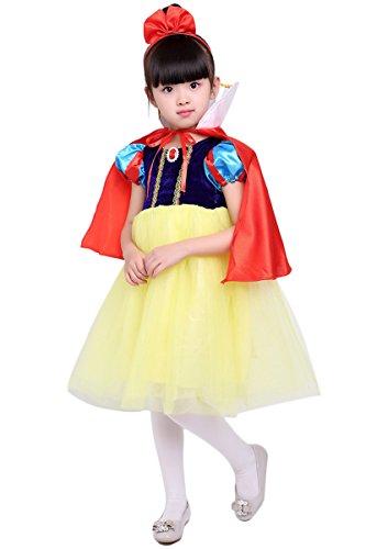 YMING Girls Snow White Dress Costume Halloween Cosplay Princess Dress 4-5 Years