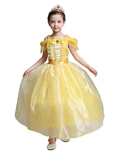Dressy Daisy Girls Princess Costumes Princess Dresses Halloween Fancy Dress Size 4 Yellow