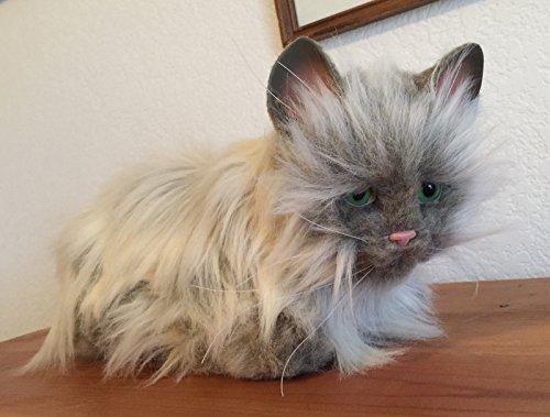 15 2002 Lulu FurReal Friends Cat Grey Gray White Interactive Pet Toy Hasbro