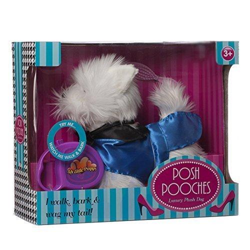 White Luxury dog toy Interactive Pet Puppy Dog POSH Dog Toy Pet toys Kids Toy Puppy by OTZ