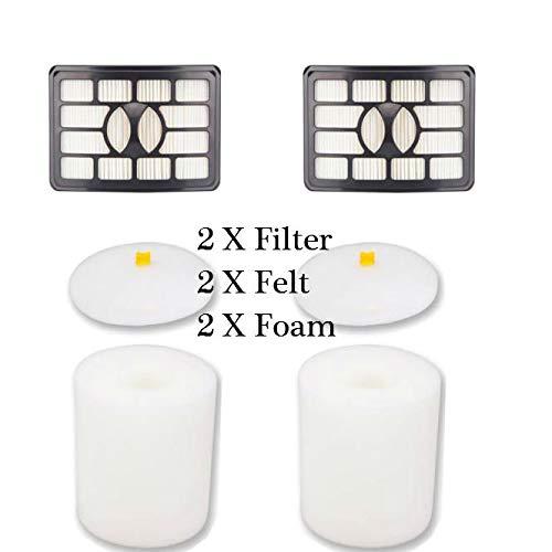 Staron  HEPA Filter Foam Filter and Felt Kit for Shark Rotator Pro Lift-Away NV500 NV501 NV505 Black