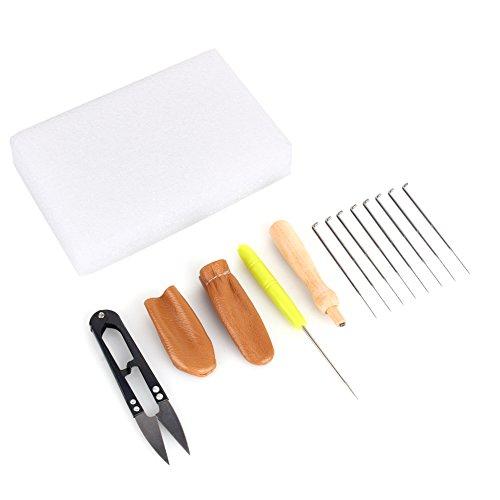Yosoo Needle Felting Starter Kit Wool Felt Tools Mat  Scissors  Needle Craft Kit