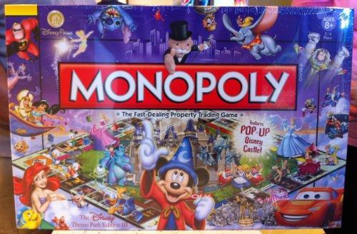 Disney Theme Park Edition Monopoly Game Castle NEW