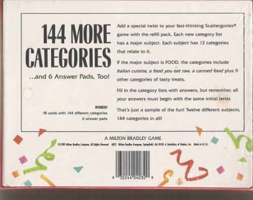 Scattergories Refill 1 by Milton Bradley