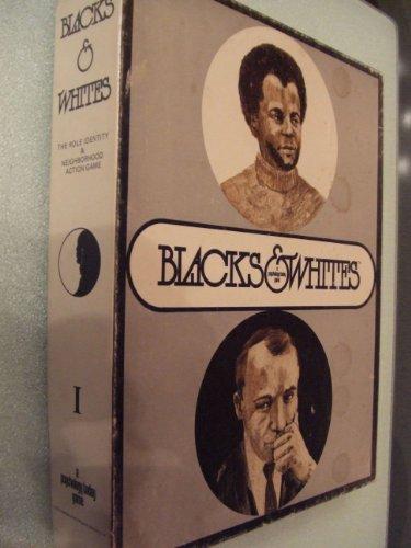 Blacks Whites Role Identity Vintage Board Game 1970