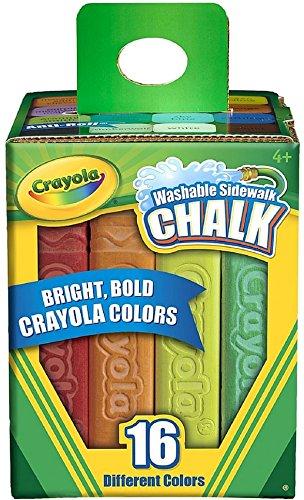 Crayola Washable Sidewalk Chalk Outdoor Toy Gift for Kids 16 Count