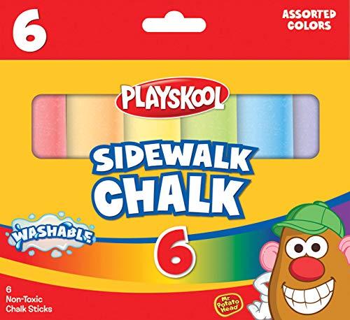Playskool Washable Sidewalk Chalk Assorted Colors - 6 Sticks