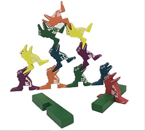 Baby Toys Creative Crocodile Building Blocks Cartoon Animal Pyramid Game Wooden Toys Family Educational Game Child Birthday Gift