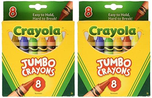 Crayons Jumbo 8ct Peggable Tuck Box Set of 2