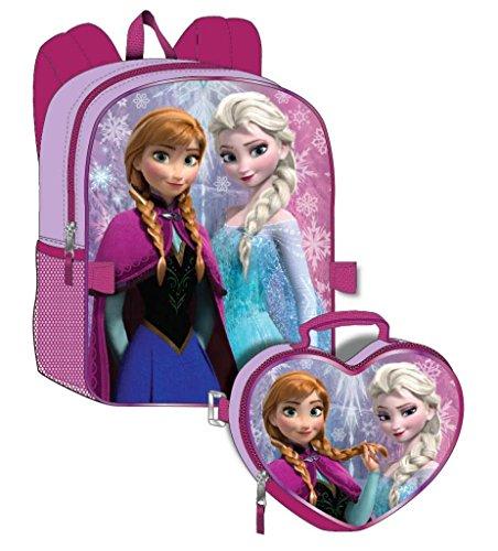 Disney Frozen Girls Backpack with Detachable Lunchbox Set Exclusive Design