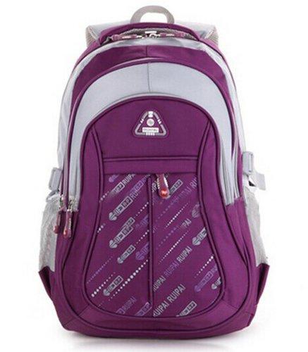 Eshops Fashion Backpacks for Girls School Bags for Women College Book Bag Purple