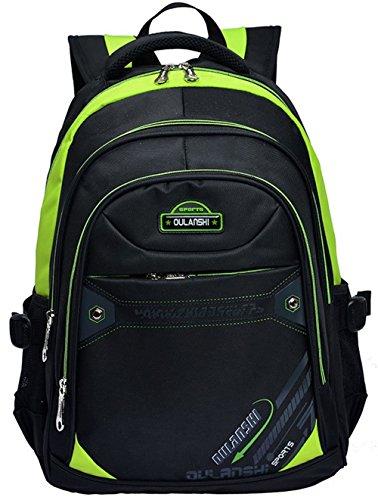 Fashion Backpack Kids Boys Girls Travel School Bag Waterproof Laptop Bag Satchel Backpacks Green