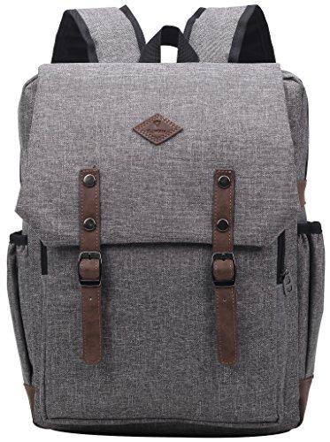 Panda Kelly Lightweight Fashion High School Backpack for Teen Girls Boys Travel Laptop BagsGrey