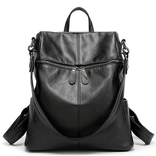 Women Girls PU Leather Backpack Purse Fashion Casual Shoulder Bag Black