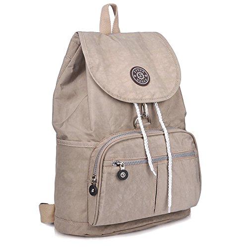 ZYSUN Fashion Travel School Backpacks LightWeight Bag for College Girls Womens604nude