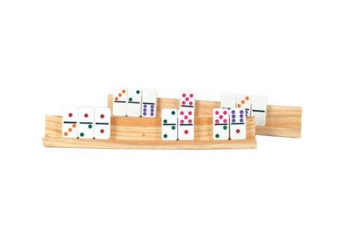 Recreational Wooden Accessory Game Activity Equipment Domino Rack