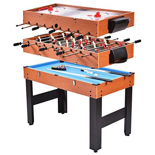 FDInspiration 3-in-1 Kids Multi Game Table Convert Foosball Soccer 485 wBilliards Pool and Glide Hockey