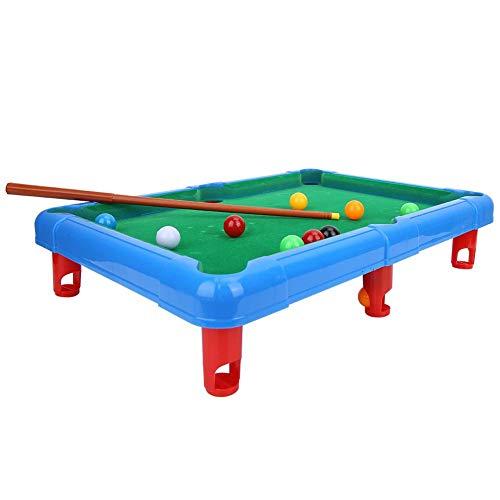 Fishlor Mini Pool Billiards Mini Billiard Ball Table Game Snooker Pool Table Top Game Entertainment Props for ChildBlue