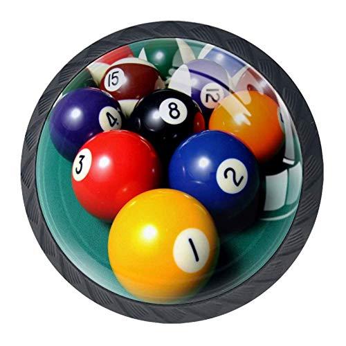 Idealiy Ball Snooker Billiards Balls Drawer Pulls Handles Cabinet Dressing Table Dresser Knob Pull Handle with Screws 4pcs