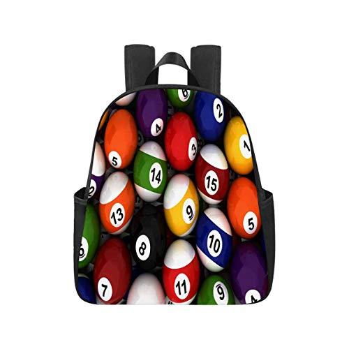 InterestPrint Billiard Balls Bookbags Elementary School Bags