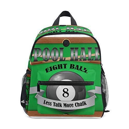 MOFEIYUE Kids Backpack Sport Billiard Ball School Bag Kindergarten Toddler Preschool Backpack for Boy Girls Children